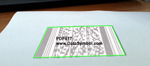 PDF417 barcode with perspective distortion.